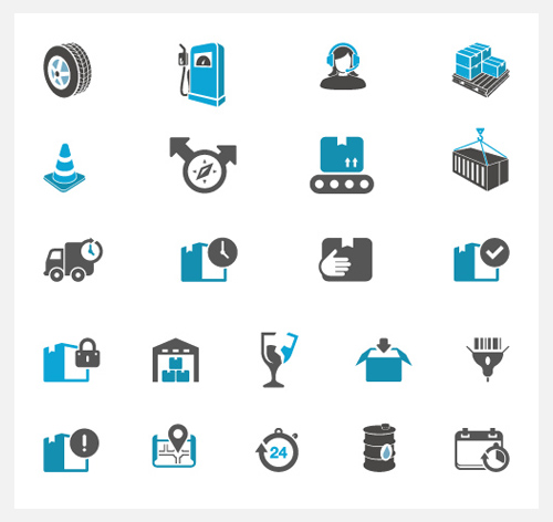 Supply Chain and logistics icons